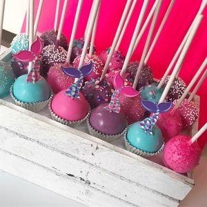 Plain organic cake pops.